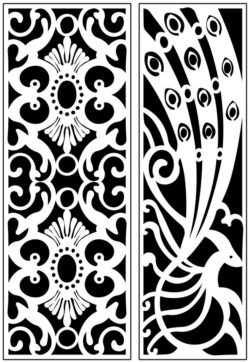 Design pattern panel screen AN00071191 file cdr and dxf free vector download for Laser cut CNC