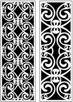Design pattern panel screen AN00071193 file cdr and dxf free vector download for Laser cut CNC