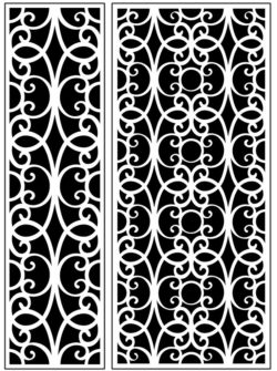 Design pattern panel screen AN00071196 file cdr and dxf free vector download for Laser cut CNC