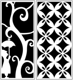 Design pattern panel screen AN00071199 file cdr and dxf free vector download for Laser cut CNC