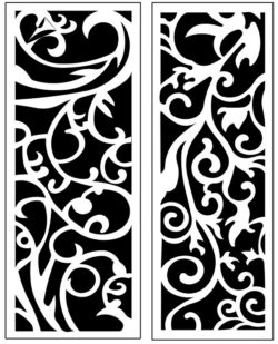 Design pattern panel screen AN00071203 file cdr and dxf free vector download for Laser cut CNC