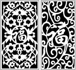 Design pattern panel screen AN00071209 file cdr and dxf free vector download for Laser cut CNC