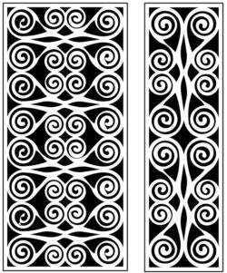 Design pattern panel screen AN00071212 file cdr and dxf free vector download for Laser cut CNC