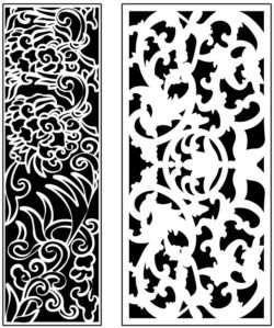 Design pattern panel screen AN00071214 file cdr and dxf free vector download for Laser cut CNC