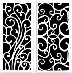 Design pattern panel screen AN00071222 file cdr and dxf free vector download for Laser cut CNC