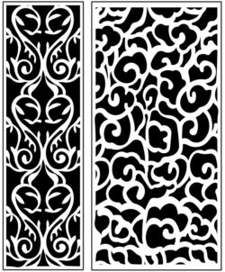 Design pattern panel screen AN00071227 file cdr and dxf free vector download for Laser cut CNC