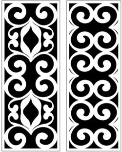 Design pattern panel screen AN00071233 file cdr and dxf free vector download for Laser cut CNC