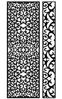 Design pattern panel screen AN00071259 file cdr and dxf free vector download for Laser cut CNC