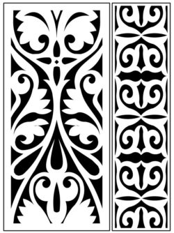 Design pattern panel screen AN00071273 file cdr and dxf free vector download for Laser cut CNC