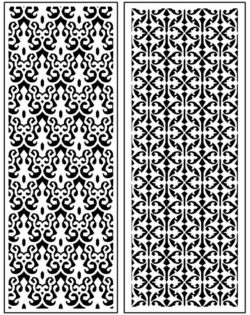 Design pattern panel screen AN00071278 file cdr and dxf free vector download for Laser cut CNC