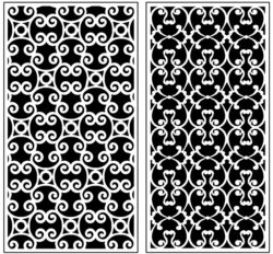 Design pattern panel screen AN00071286 file cdr and dxf free vector download for Laser cut CNC