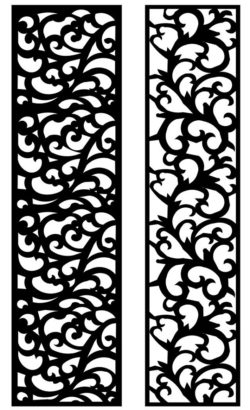 Design pattern panel screen AN00071287 file cdr and dxf free vector download for Laser cut CNC