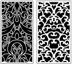 Design pattern panel screen AN00071289 file cdr and dxf free vector download for Laser cut CNC