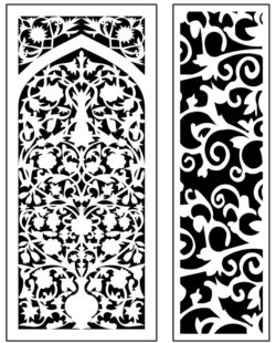 Design pattern panel screen AN00071306 file cdr and dxf free vector download for Laser cut CNC