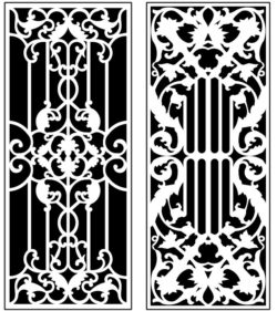 Design pattern panel screen AN00071307 file cdr and dxf free vector download for Laser cut CNC