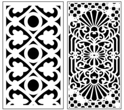 Design pattern panel screen AN00071312 file cdr and dxf free vector download for Laser cut CNC