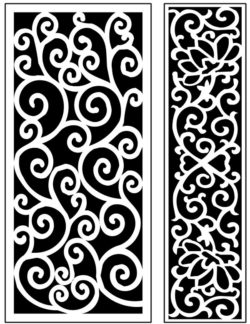 Design pattern panel screen AN00071313 file cdr and dxf free vector download for Laser cut CNC