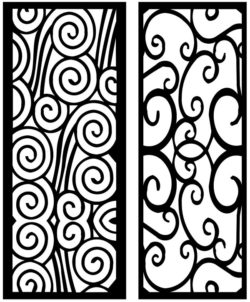 Design pattern panel screen AN00071314 file cdr and dxf free vector download for Laser cut CNC