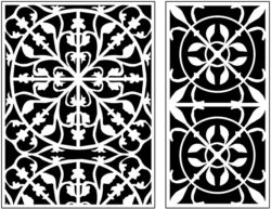 Design pattern panel screen AN00071316 file cdr and dxf free vector download for Laser cut CNC