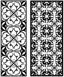 Design pattern panel screen AN00071335 file cdr and dxf free vector download for Laser cut CNC