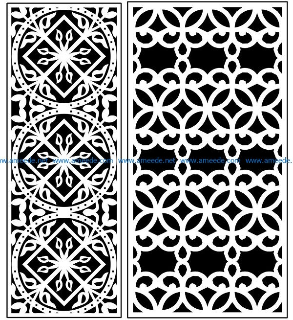 Design pattern panel screen AN00071336 file cdr and dxf free vector download for Laser cut CNC