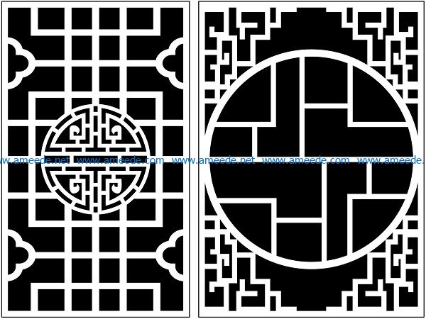 Design pattern panel screen AN00071387 file cdr and dxf free vector download for Laser cut CNC