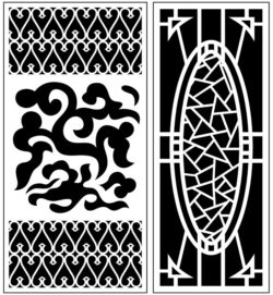 Design pattern panel screen AN00071395 file cdr and dxf free vector download for Laser cut CNC