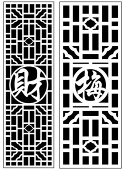 Design pattern panel screen AN00071397 file cdr and dxf free vector download for Laser cut CNC