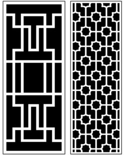 Design pattern panel screen AN00071410 file cdr and dxf free vector download for Laser cut CNC