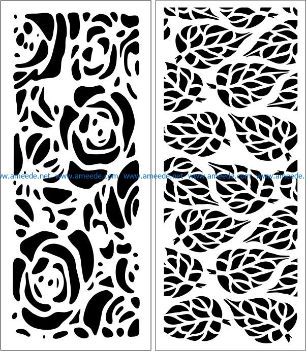 Design pattern panel screen E0007843 file cdr and dxf free vector download for Laser cut CNC