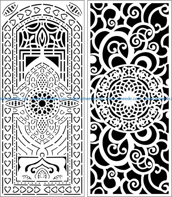 Design pattern panel screen E0007844 file cdr and dxf free vector download for Laser cut CNC
