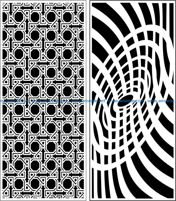 Design pattern panel screen E0007845 file cdr and dxf free vector download for Laser cut CNC