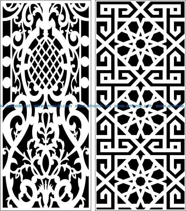 Design pattern panel screen E0007846 file cdr and dxf free vector download for Laser cut CNC