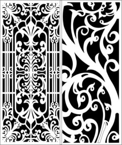 Design pattern panel screen  E0007942 file cdr and dxf free vector download for Laser cut CNC