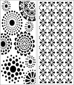 Design pattern panel screen E0008304 file cdr and dxf free vector download for Laser cut CNC