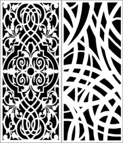 Design pattern panel screen E0008305 file cdr and dxf free vector download for Laser cut CNC