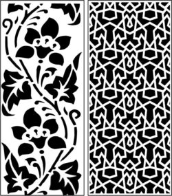 Design pattern panel screen E0008307 file cdr and dxf free vector download for Laser cut CNC