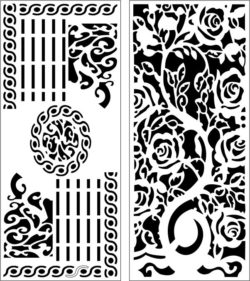 Design pattern panel screen E0008309 file cdr and dxf free vector download for Laser cut CNC