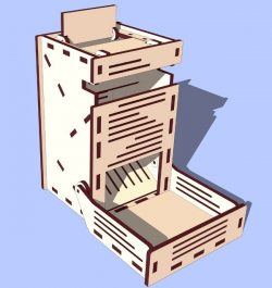 Dice tower file cdr and dxf free vector download for Laser cut