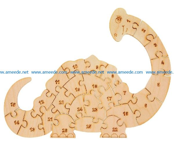 Dinosaur puzzle file cdr and dxf free vector download for Laser cut