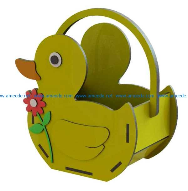 Duck basket file cdr and dxf free vector download for Laser cut