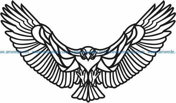 Eagle flying murals free vector download for Laser cut Plasma