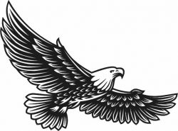 Eagle murals free vector download for Laser cut Plasma