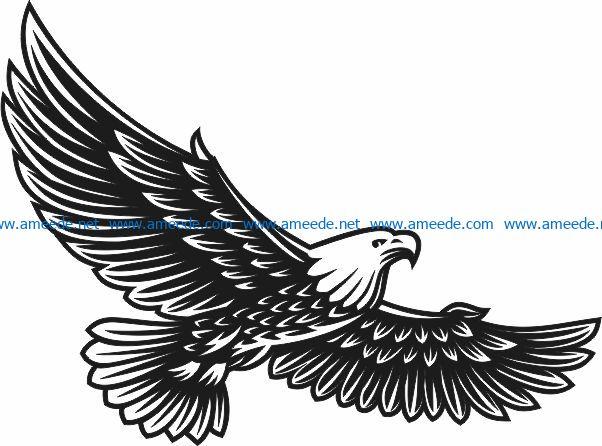 Eagle murals free vector download for Laser cut Plasma