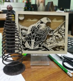 Eagle picture file cdr and dxf free vector download for Laser cut