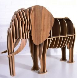 Elephant Shelf file cdr and dxf free vector download for Laser cut CNC