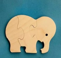 Elephants puzzle piece file cdr and dxf free vector download