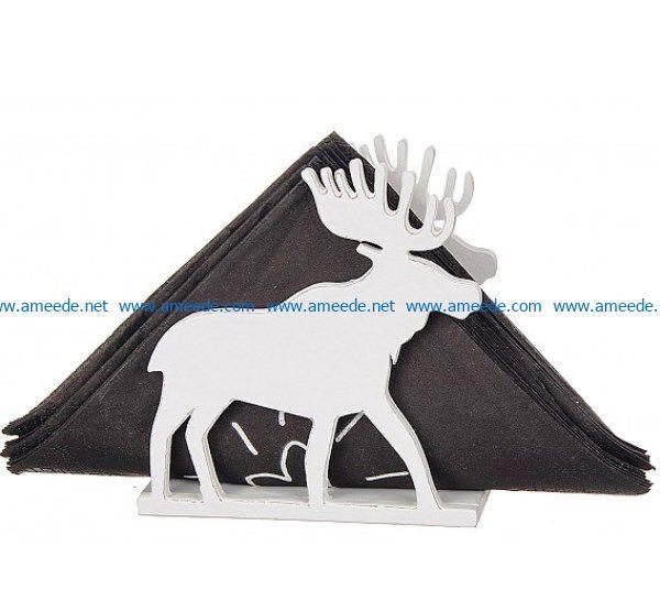 Elk Napkin Holder file cdr and dxf free vector download for Laser cut