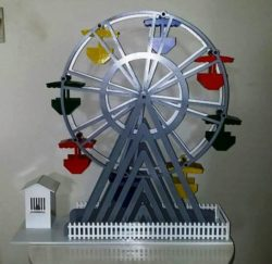 Ferris Wheel file cdr and dxf free vector download for Laser cut