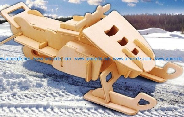 Flat sleigh model file cdr and dxf free vector download for Laser cut